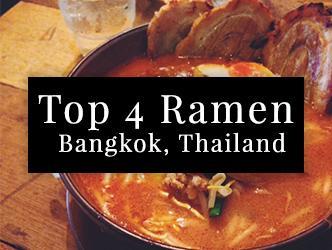 Top 4 Ramen in Bangkok